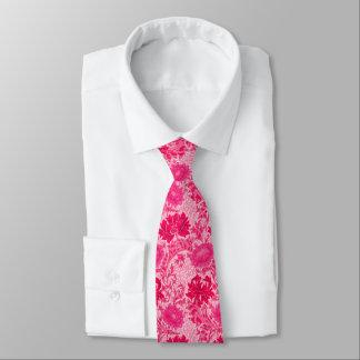 William Morris Chrysanthemums, Fuchsia Pink Tie