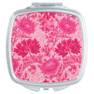 William Morris Chrysanthemums, Fuchsia Pink Vanity Mirror