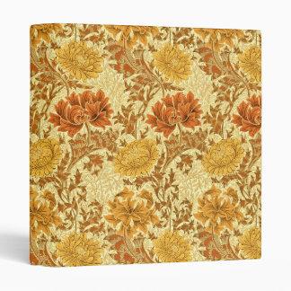 William Morris Chrysanthemums, Mustard Gold Binder