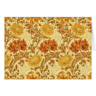 William Morris Chrysanthemums, Mustard Gold Card