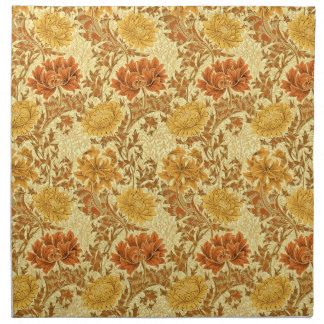 William Morris Chrysanthemums, Mustard Gold Napkin