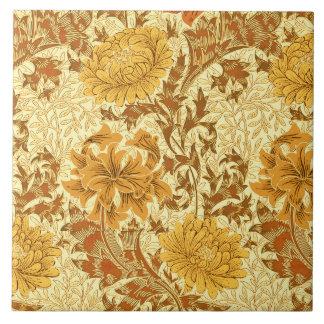 William Morris Chrysanthemums, Mustard Gold Tile