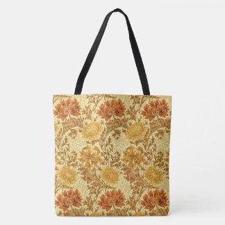 William Morris Chrysanthemums, Mustard Gold Tote Bag