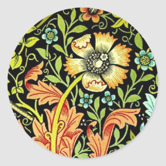 """William Morris """"Compton"""" Classic Round Sticker"""