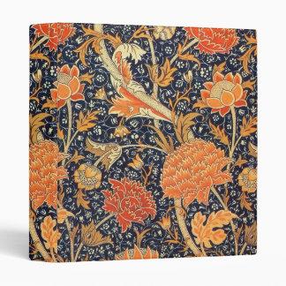 William Morris Cray Floral Art Nouveau Pattern 3 Ring Binders