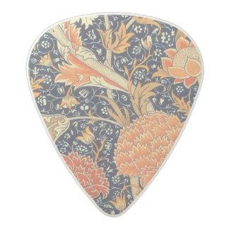 William Morris Cray Floral Art Nouveau Pattern Acetal Guitar Pick