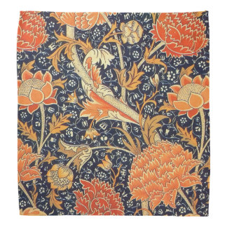 William Morris Cray Floral Art Nouveau Pattern Bandanna
