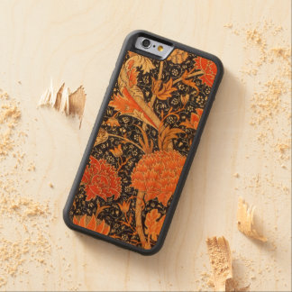 William Morris Cray Floral Art Nouveau Pattern Carved Cherry iPhone 6 Bumper Case