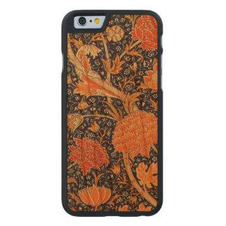 William Morris Cray Floral Art Nouveau Pattern Carved Cherry iPhone 6 Case