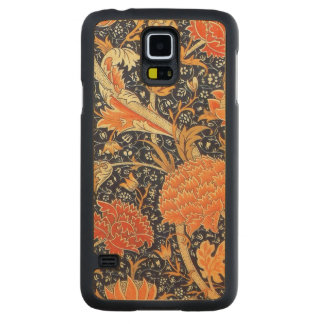 William Morris Cray Floral Art Nouveau Pattern Carved Maple Galaxy S5 Case