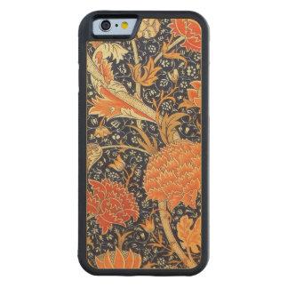 William Morris Cray Floral Art Nouveau Pattern Carved Maple iPhone 6 Bumper Case