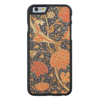 William Morris Cray Floral Art Nouveau Pattern Carved Maple iPhone 6 Case