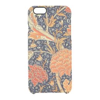 William Morris Cray Floral Art Nouveau Pattern Clear iPhone 6/6S Case
