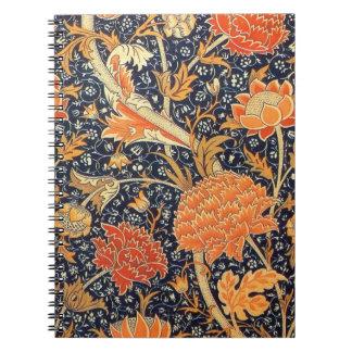 William Morris Cray Floral Art Nouveau Pattern Notebooks