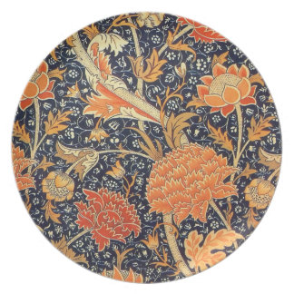 William Morris Cray Floral Art Nouveau Pattern Party Plates