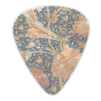 William Morris Cray Floral Art Nouveau Pattern Pearl Celluloid Guitar Pick