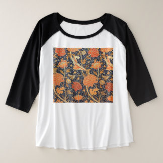 William Morris Cray Floral Art Nouveau Pattern Plus Size Raglan T-Shirt