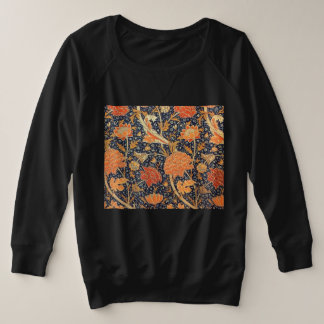 William Morris Cray Floral Art Nouveau Pattern Plus Size Sweatshirt