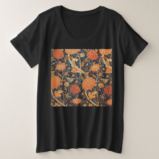 William Morris Cray Floral Art Nouveau Pattern Plus Size T-Shirt