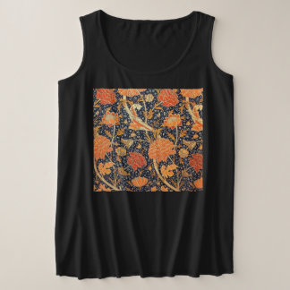 William Morris Cray Floral Art Nouveau Pattern Plus Size Tank Top