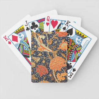 William Morris Cray Floral Art Nouveau Pattern Poker Deck