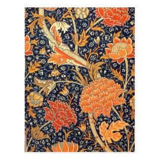 William Morris Cray Floral Art Nouveau Pattern Postcard