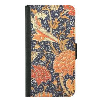 William Morris Cray Floral Art Nouveau Pattern Samsung Galaxy S5 Wallet Case