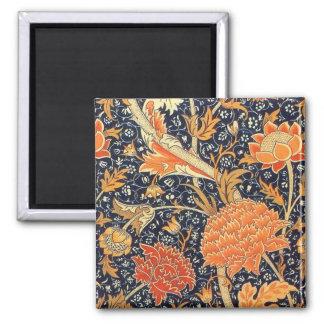 William Morris Cray Floral Art Nouveau Pattern Square Magnet