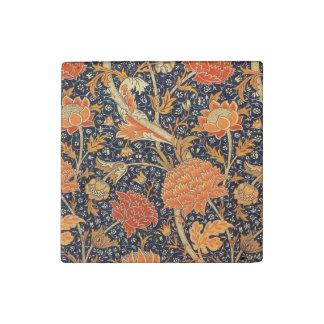 William Morris Cray Floral Art Nouveau Pattern Stone Magnets