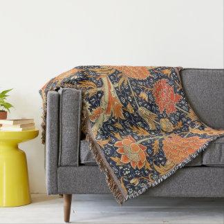 William Morris Cray Floral Art Nouveau Pattern Throw Blanket