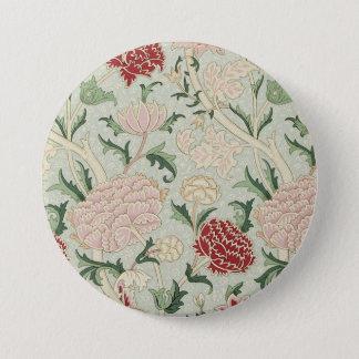 William Morris Cray Floral Pre-Raphaelite Vintage 3 Inch Round Button