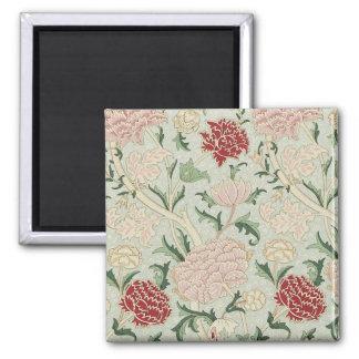William Morris Cray Floral Pre-Raphaelite Vintage Square Magnet