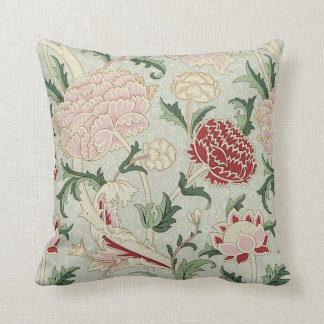 William Morris Cray Floral Pre-Raphaelite Vintage Throw Pillow