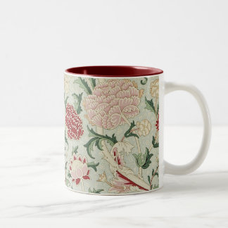 William Morris Cray Floral Pre-Raphaelite Vintage Two-Tone Coffee Mug