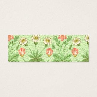 William Morris Daisy Pattern Mini Business Card