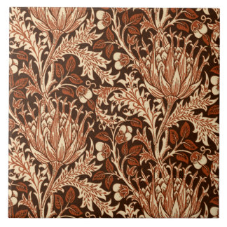 William Morris Damask, Brown & Beige Tile