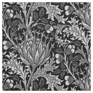 William Morris Damask, Dark Gray Fabric