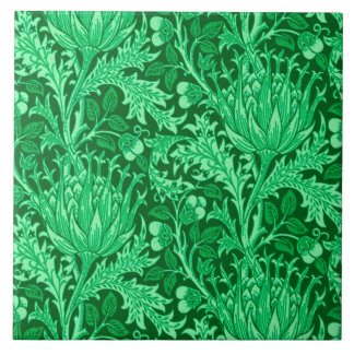 William Morris Damask, Emerald Green Tile