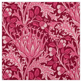 William Morris Damask, Fuchsia Pink Fabric