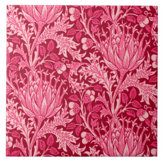 William Morris Damask, Fuchsia Pink Tile