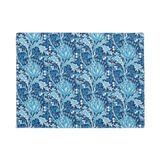 William Morris Damask, Navy and White Doormat
