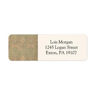William Morris Dove and Rose Pattern Return Address Label