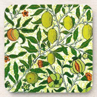 William Morris Exotic Fruit, Lemon Yellow Coaster