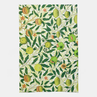 William Morris Exotic Fruit, Lemon Yellow Kitchen Towel