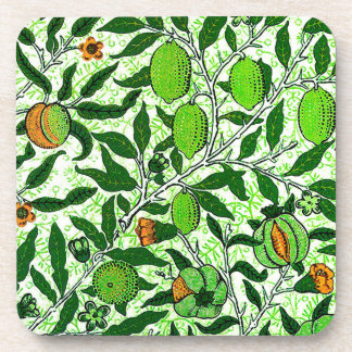 William Morris Exotic Fruit, Lime Green Coaster