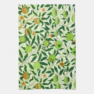 William Morris Exotic Fruit, Lime Green Kitchen Towel