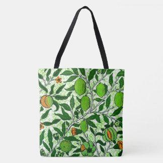 William Morris Exotic Fruit, Lime Green Tote Bag