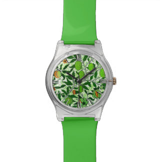 William Morris Exotic Fruit, Lime Green Watch