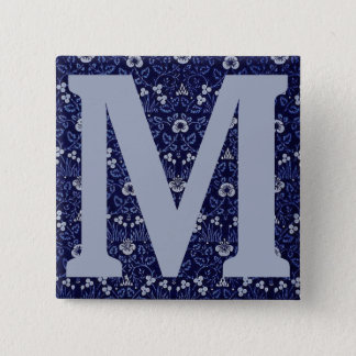 William Morris Eyebright Design 2 Inch Square Button