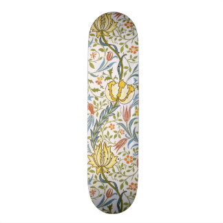 William Morris Flora Vintage Floral Art Nouveau Custom Skate Board